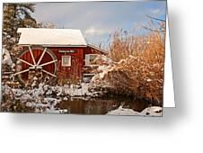 Kimberton Mill After Snow Greeting Card
