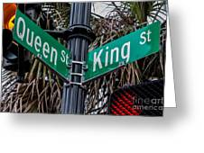 King And Queen Street Greeting Card