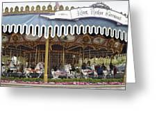 King Arthur Carrousel Fantasyland Disneyland Greeting Card
