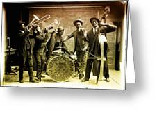 King Carter Jazzing Orchestra Greeting Card