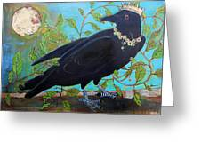 King Crow Greeting Card