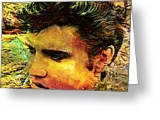 King Elvis Greeting Card