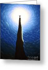 King For A Night Greeting Card by Chris Mackie