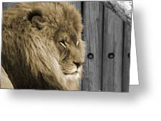 King In Sepia Greeting Card