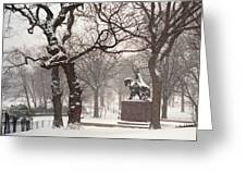 King Jagiello In A Blizzard Greeting Card