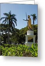 King Kamehameha Statue Greeting Card