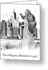King Kong, Atop The Williamsburgh Savings Bank Greeting Card