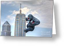 King Kong Comes To Myrtle Beach Greeting Card