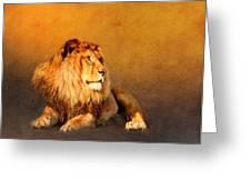 King Leo Greeting Card