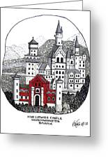 King Ludwigs Castle  Greeting Card by Frederic Kohli