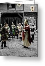 King Macbeth Of Scotland With The Bishop Greeting Card