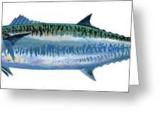 King Mackerel Greeting Card by Carey Chen
