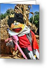King Of Hearts Scarecrow By Diana Sainz Greeting Card