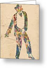King Of Pop In Concert No 14 Greeting Card