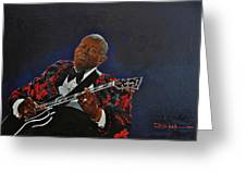 King Of The Blues Greeting Card
