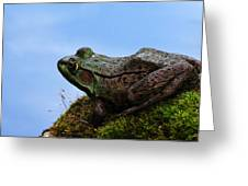 King Of The Rock Greeting Card