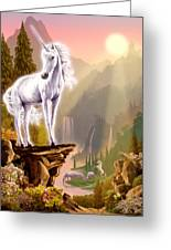 King Of The Valley Greeting Card