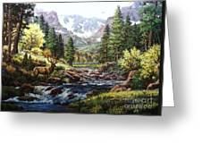 King Of The Valley Greeting Card by W  Scott Fenton