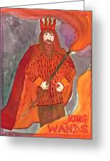 King Of Wands Greeting Card