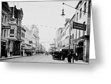 King Street In Charleston South Carolina Circa 1910 Greeting Card
