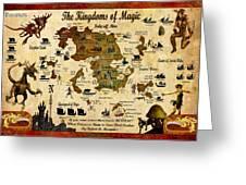 Kingdoms Of Magic Battle Map Greeting Card