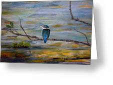 Kingfisher Over Estuary Greeting Card
