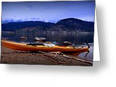 Kings Beach - Okanagan Lake - Kayaking Greeting Card