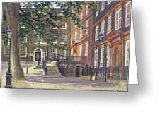 Kings Bench Walk, Inner Temple Oil On Canvas Greeting Card