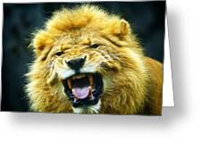 Kings Roar Greeting Card