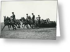 King�s Troop Of The R.h.a. Rehearse�. Even The Gun Goes Greeting Card