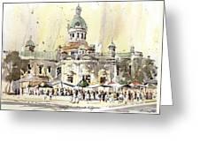 Kingston Market Square Greeting Card by David Gilmore