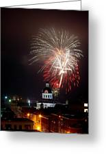 Kingston New Years Eve Fireworks Greeting Card by Paul Wash
