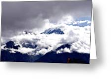 Kinner Kailash Hills- Himachal Pradesh- Viator's Agonism Greeting Card by Vijinder Singh