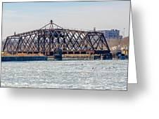 Kinnickinnic River Swing Bridge Greeting Card