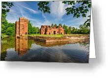 Kirby Muxloe Castle Greeting Card