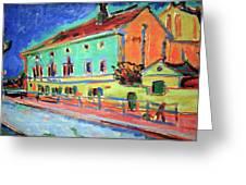 Kirchner's Houses In Dresden Greeting Card