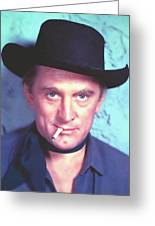 Kirk Douglas In Man Without A Star Greeting Card by Art Cinema Gallery