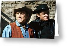 Kirk Douglas Johnny Cash A Gunfight  Old Tucson Arizona 1971 Greeting Card