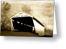 Kirker Covered Bridge  35-01-10 Greeting Card