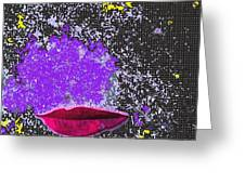 Kiss Me In Space Greeting Card