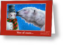 kiss of Snow... Greeting Card