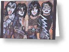 Kiss Rock Band Greeting Card