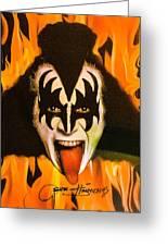 Kiss The Demon Greeting Card