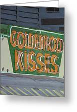 Kisses Neon Sign Greeting Card