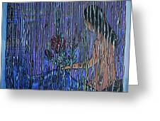 Kissing Rain Greeting Card