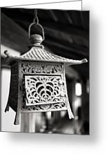 Kita-in Temple Iron Lantern In Kawagoe Greeting Card