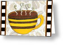 Kitchen Cuisine Hot Cuppa No14 By Romi And Megan Greeting Card