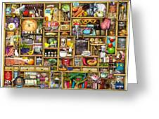Kitchen Cupboard Greeting Card by Colin Thompson