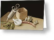 Kitchen Geometry Greeting Card by Jenny Barron