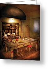 Kitchen - Granny's Stove Greeting Card